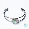 bracelet super maîtresse métal argenté médaillon illustration flamant rose cadeau original maîtresses