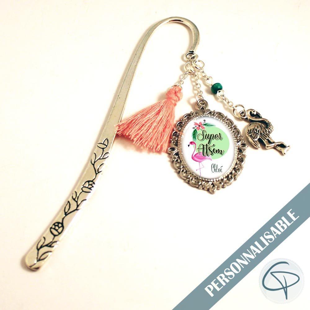 marque-page bijou flamant rose cadeau original fin année super atsem