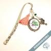 cadeau original fin année scolaire maîtresse école marque-page bijou flamant rose