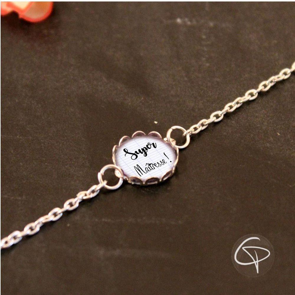 Bracelet super maîtresse cadeau original fin d'année scolaire