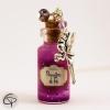 Sautoir fiole poussières de fée fuchsia sautoir bijou long collier