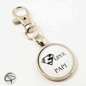 Porte-clé personnalisé super papi ou super papy au choix