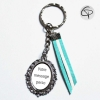 Porte-clé personnalisable Chat Pristy porte-clef personnalisé choix couleur suédine