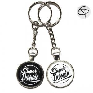 porte-clés supers parrains cadeaux originaux personnalisés
