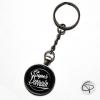 porte-clé super parrain noir cadeau original personnalisé