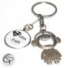 Porte-clé décapsuleur Super papi porte-clef personnalisé grand-père décapsuleur original fille garçon