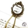 Marque-page bijou marraine qui déchire signet marque-page marraine cadeaux pour marraines