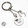 Porte-clé décapsuleur clef à molette message personnalisable