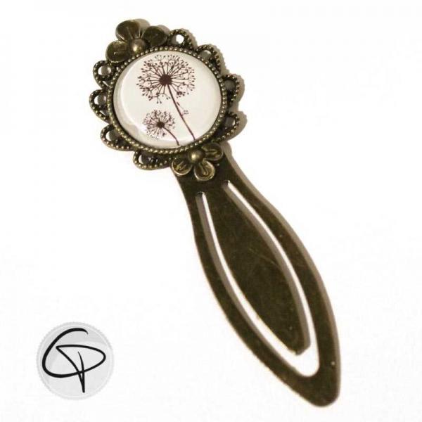 Marque-page bijou fleurs de pissenlit