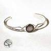 Bracelet dessin géométrique Tête de Chat bracelet argenté féminin chat pristy