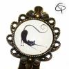 Marque-page bijou Chat qui s'étire signet métallique marque-pages chat pristy