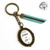 Porte-clé personnalisé pour une amie en or