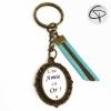 Porte-clé pour une amie en or cadeau original copine