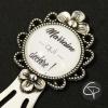 Marque-page bijou marraine qui déchire signet métal argenté marque-pages cadeau pour marraine chat pristy
