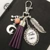 bijou pour sac tata d'amour pompon violet cadeau original