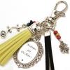 Porte-clé de sac maman qui déchire cadeau original personnalisable pompon jaune