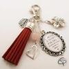 Bijou de sac pompon bijoux pour sac à main porte-clef chat pristy