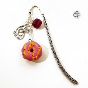 Marque-page bijou donut macaron accessoire original gourmand de lecture