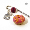 Signet bijou fait main donut macaron accessoire original gourmand de lecture