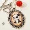 Marque-page bijou dessin de Panda accessoire lecture signet illustration Chat Pristy