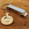 Porte-clé décapsuleur ouvre bouteille porte-clef personnalisé super papa cadeau original fête des pères Chat Pristy