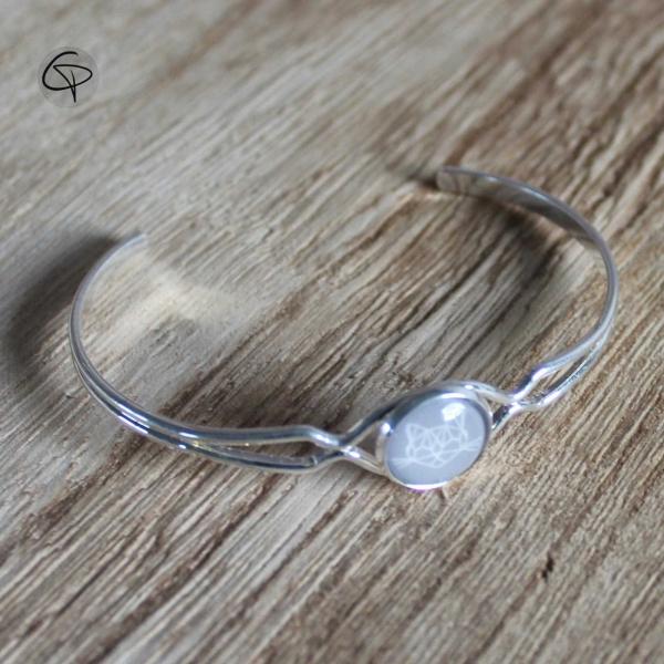 Bracelet dessin géométrique Tête de Chat