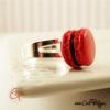 Bague macaron rouge bijou gourmand pour femme