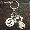 Porte-clé décapsuleur original ouvre-bouteille personnalisé porte-clef cadeau original modèle fille keep calm