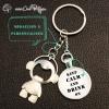 Porte-clé décapsuleur original ouvre-bouteille personnalisé porte-clef cadeau original modèle garçon keep calm