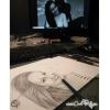 Portrait de deux personnes réalisé à la main au crayon de papier
