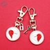 Porte-clé cœur séparable personnalisable prénom couple