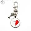 Porte-clés pour couple amoureux une moité de coeur pour elle et lui personnalisable avec le prénom