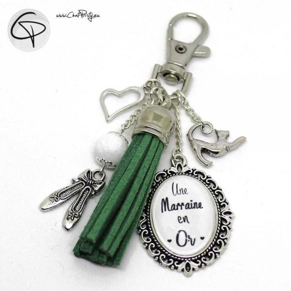 Porte-clé pour sac à main, cadeau original marraine