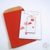 Collier sautoir pendentif coquelicot cadeau original bijou pour femme