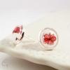 Clous d'oreilles dessin fleurs de coquelicots faits main