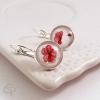 Boucles d'oreilles bijou pour femme dessin fleurs de coquelicot
