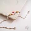 Bracelet bijou pour femme avec médaillon dessin de coquelicots
