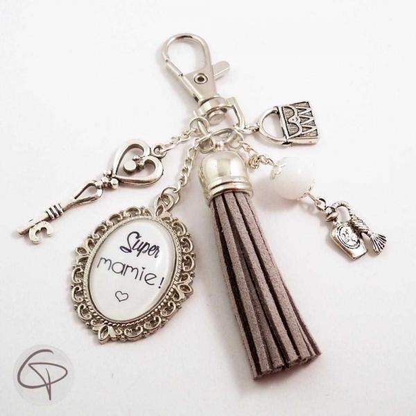 Bijou porte-clé de sac mamie, cadeau original