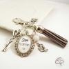 Porte-clé bijou pour sac grand-mère cadeau original personnalisé mamie