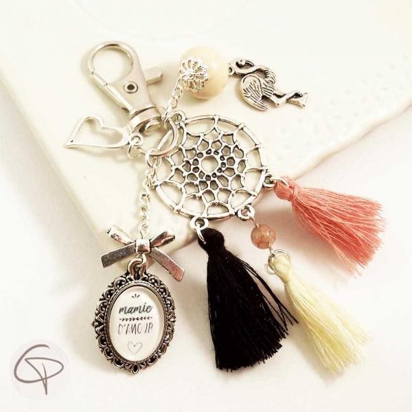 Porte-clef bijou de sac attrape-rêve, cadeau original mamie