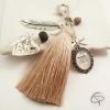 Porte-clé bijou pour sac mamie médaillon cœur qui s'ouvre cadeau original