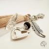Porte-clé de sac mamie médaillon cœur qui s'ouvre cadeau original grand-mère
