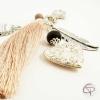 Porte-clef de sac mamie médaillon cœur qui s'ouvre cadeau personnalisé grand-mère