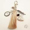 Porte-clé de sac mamie pendentif cœur qui s'ouvre cadeau personnalisé grand-mère