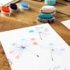 carte peinture empreinte doigt enfant cadeau original fête grand-mère