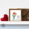 Carte de vœux fête des grands-mères bouquet de fleurs à l'aquarelle