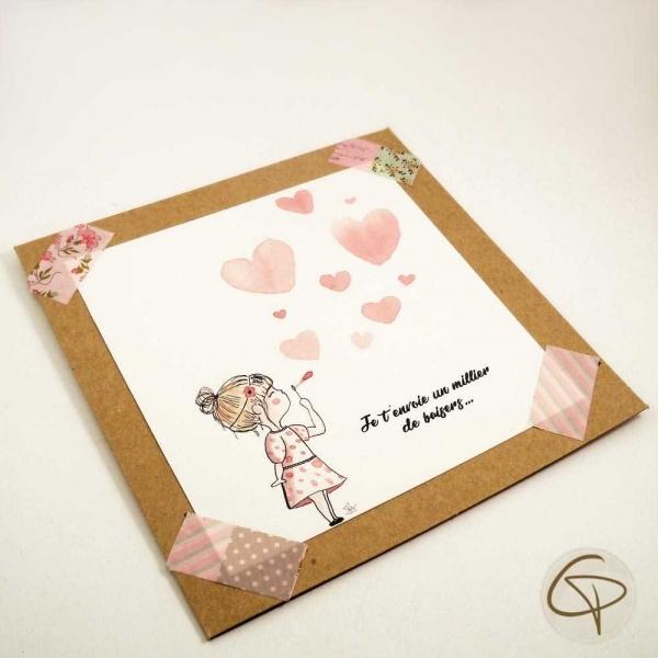 Carte de vœux petite fille originale et personnalisable mamie