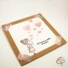 Carte de vœux mamie personnalisable Petite fille peinte main