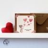 Carte de vœux mamie personnalisable fait main Petite fille peinte main