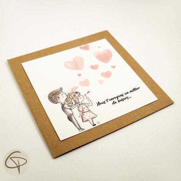 Carte de vœux mamie petits enfants personnalisable